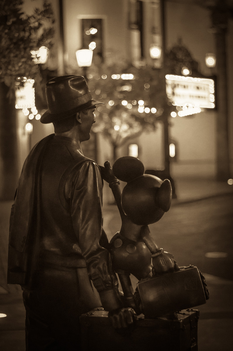 Walt and Mickey Statue California