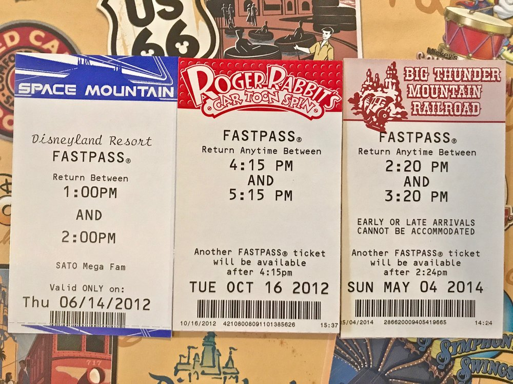 How to use Fastpass Disneyland