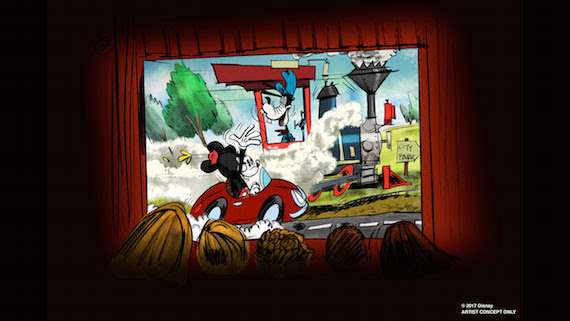 Mickey and Minnie Runaway Train Ride