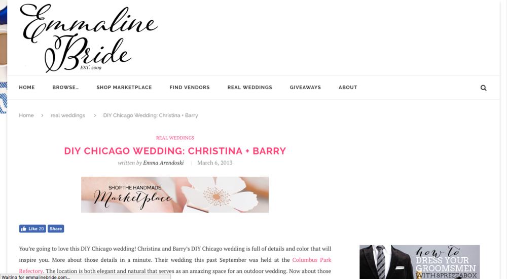Emmaline Bride - March 2013