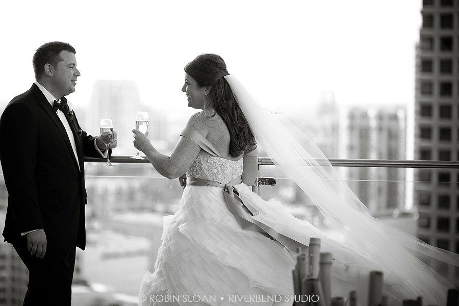 15 Jen.Aaron Trump Towers Ballroom Chicago Wedding Robin Sloan Riverbend Studio Sweetchic Events