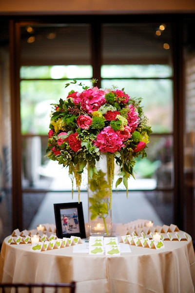 15. Sara.Iain. Douglas Dawnson Gallery. Steve Koo Photography Sweetchic Events. Vale of Enna. Escort Card Flower Entrance Display