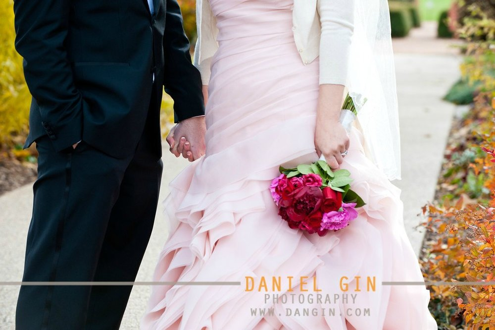 18 Morton Arboretum wedding Dan Gin Photography Sweetchic Events blush Pink Vera Wang Davids Bridal gown