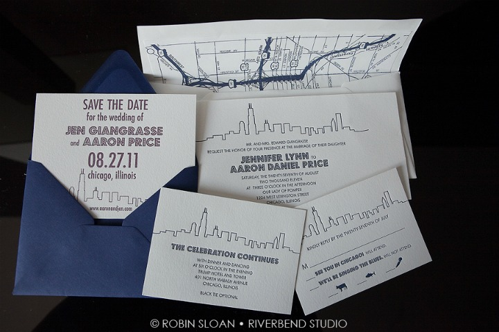 2 Jen.Aaron Trump Towers Invitations Magnificent Milestones Chicago Wedding Robin Sloan Riverbend Studio Sweetchic Events