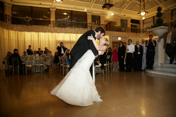 21 Sweetchic Brian Kinyon chicago Rookery wedding first dance