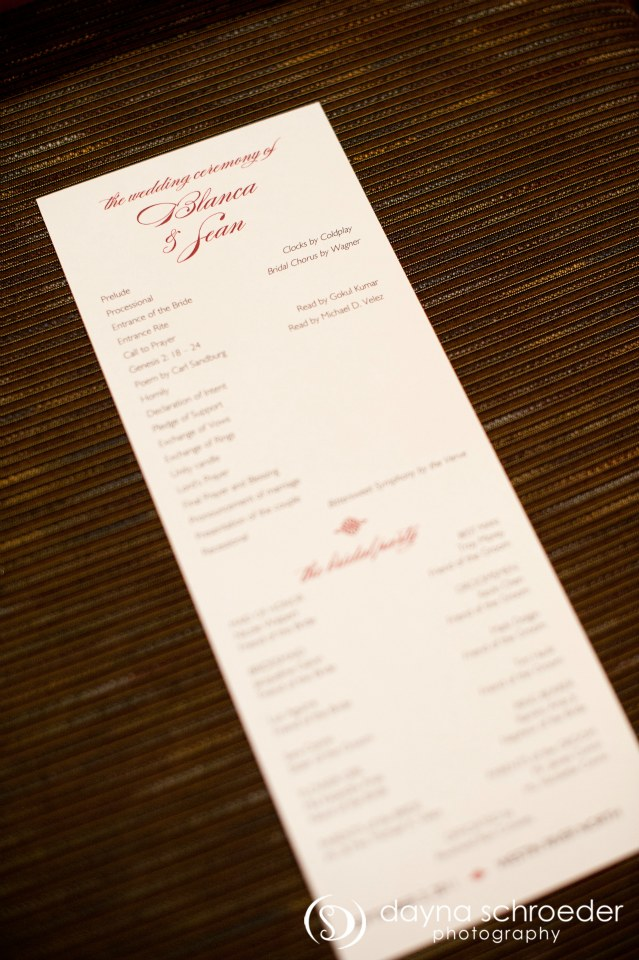 20 Westin River North chicago wedding sweetchic events dayna schroeder tea length ceremony program