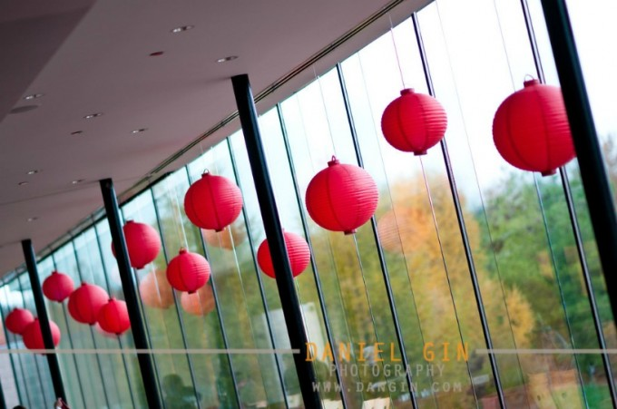 2 Morton Arboretum wedding Dan Gin photography Sweetchic Events red chinese paper lanterns gingko room