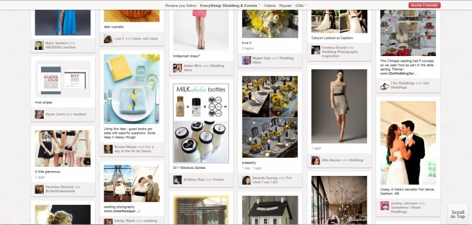 Pinterest weddings + events browse
