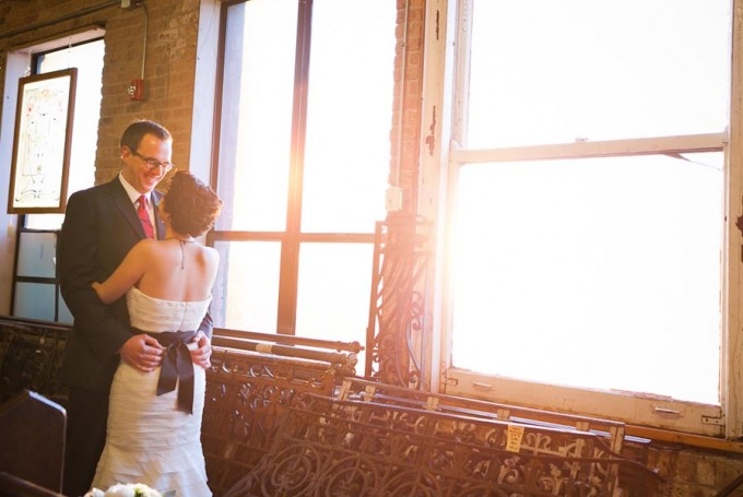 10 Architectural Artifacts Wedding Pen Carlson Photography Sweetchic Events bride and groom first look back of dress