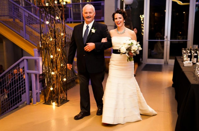 19 Architectural Artifacts Wedding Pen Carlson Photography Sweetchic Events Father and Bride Walk Down Aisle