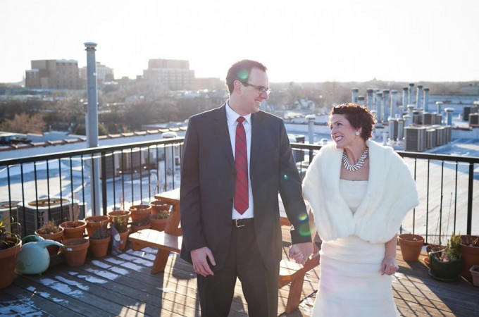 7 Architectural Artifacts Wedding Pen Carlson Photography Sweetchic Events Bride and Groom First Look Skyline
