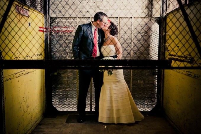 9 Architectural Artifacts Wedding Pen Carlson Photography Sweetchic Events Elevator Kiss first look