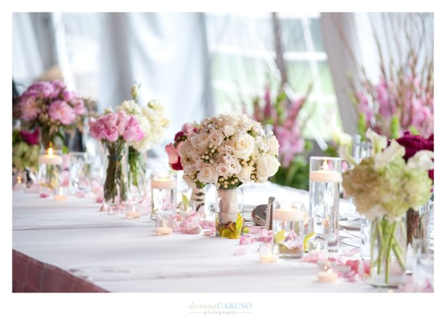28. Sarah & Rajan. Westin Itasca Wedding. Deonna Caruso Photography. Sweetchic Events. Kim Oldis. Pink Rose, PeonyCenterpiece Collection.