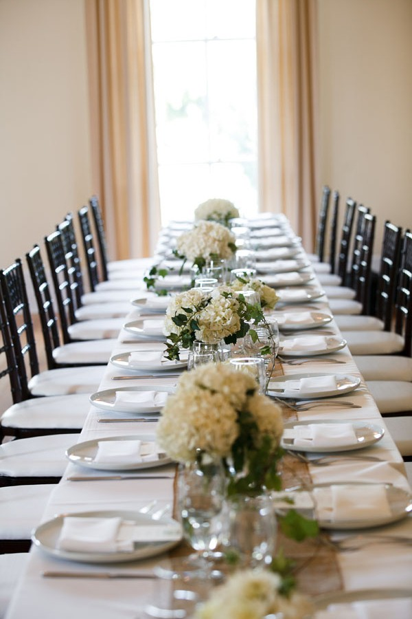 64. Melissa.Dave. Wilder Mansion. Dennis Lee Photography. Sweetchic Events. Larkspur. White Hydrangea Centerpieces