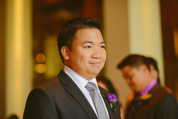 9. Karen.Boris.River East Art Center. Fragola Productions. Sweetchic Events. Groom waiting at Altar.
