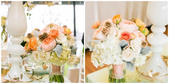 Flor del Monte bridal bouquet juliet garden roses ranunculous spray roses scabiosa dusty miller