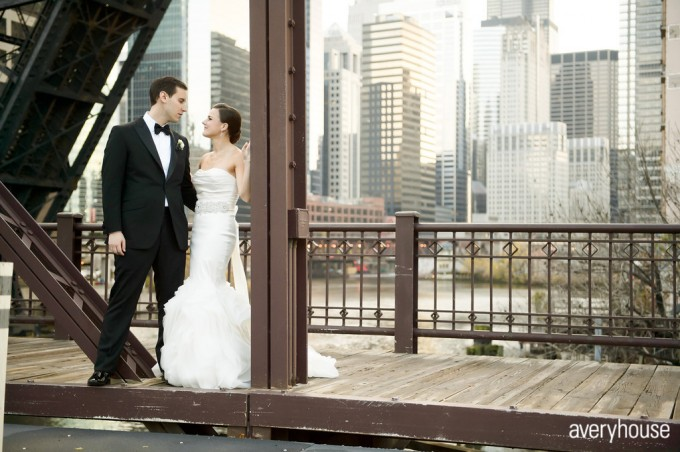 Ivy Room Wedding. Averyhouse. Sweetchic Events. Kinzie St. Bridge