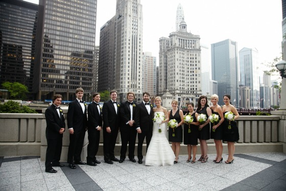 Sweetchic. Brian Kinyon Photography. Chicago Rookery Wedding. Wrigley Building