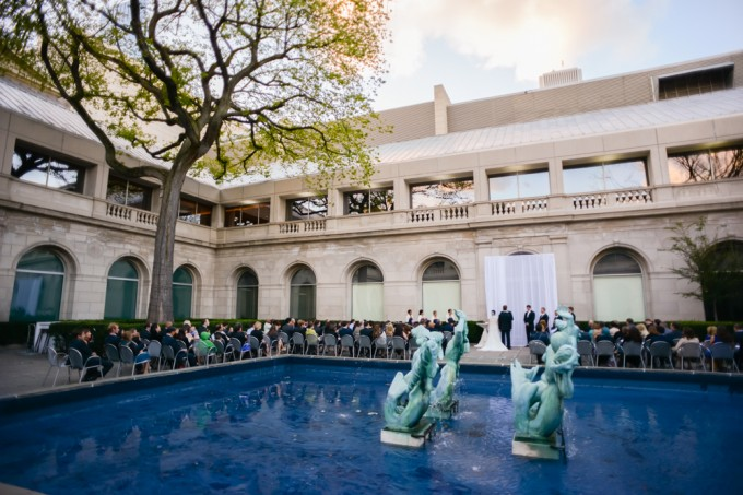chicago art institute courtyard ceremony -  J Wiley Photography
