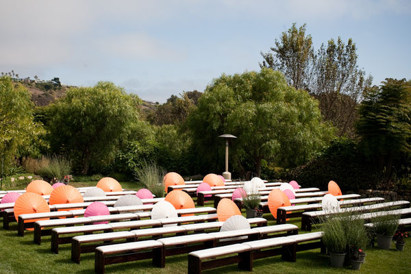 Parasols for wedding ceremony