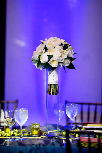 Chicago Illuminating Company. David Wittig Photography. Sweetchic Events. Scarlet Petal. Bridal Bouquet. White Garden Roses, Gardenias, Geranium Leaves