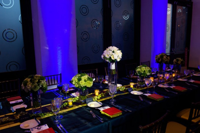 Chicago Illuminating Company. David Wittig Photography. Sweetchic Events. Scarlet Petal. Reception. Head Table.