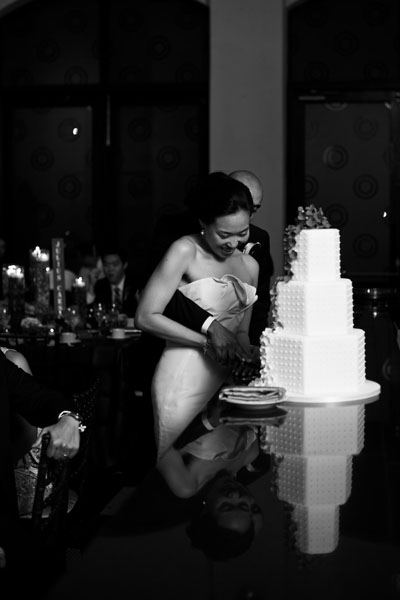 Chicago Illuminating Company. David Wittig Photography. Sweetchic Events. Wedding Reception. Cake Cutting.