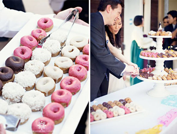 donut tower -  Divine Order Photography   via  Weddingbee