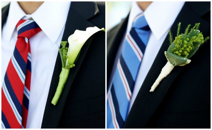 groomscallalilyboutonnieregroomsmenberryboutonniere