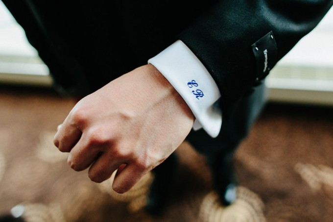 1. Trump Tower Wedding. Pen Carlson Photography. Sweetchic Events. Groom's Monogrammed Cuff.