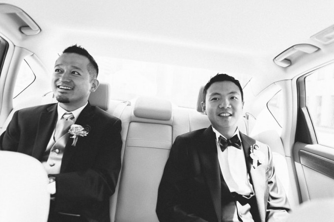 11. Trump Tower Wedding. Pen Carlson Photography. Sweetchic Events. Best Man and Groom traveling to church.