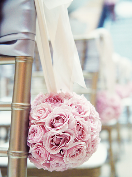 19. Rookery Wedding. Kevin Le Photography. Sweetchic Events. Vale of Enna. Pale Blush Pink Spray Rose Pomander Aisle Decor.