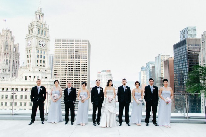 38. Trump Tower Wedding. Pen Carlson Photography. Sweetchic Events. Bridal Party on Trump Tower Terrace.