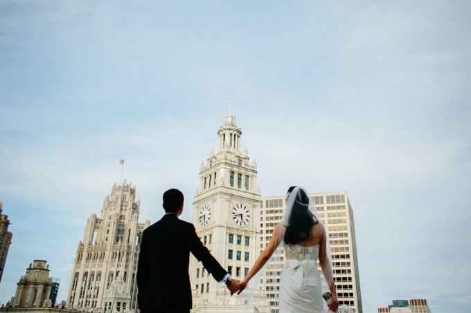 39 . Trump Tower Wedding. Pen Carlson Photography. Sweetchic Events. Bride and Groom on Trump Tower Terrace.