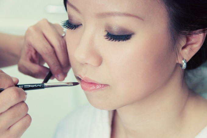 4.  Rookery Wedding. Kevin Le Photography. Sweetchic Events. Bride Getting Make-Up Done.