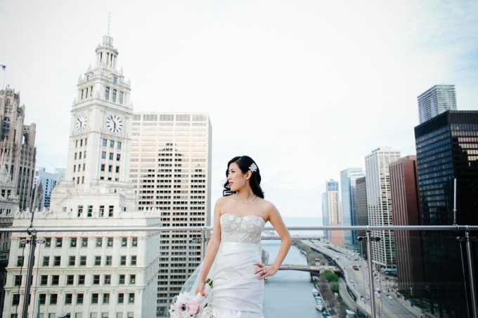 43. Trump Tower Wedding. Pen Carlson Photography. Sweetchic Events. Bride on Trump Tower Terrace.