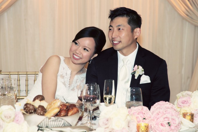 47. Rookery Wedding. Kevin Le Photography. Sweetchic Events. Bride and Groom at Sweetheart Table.