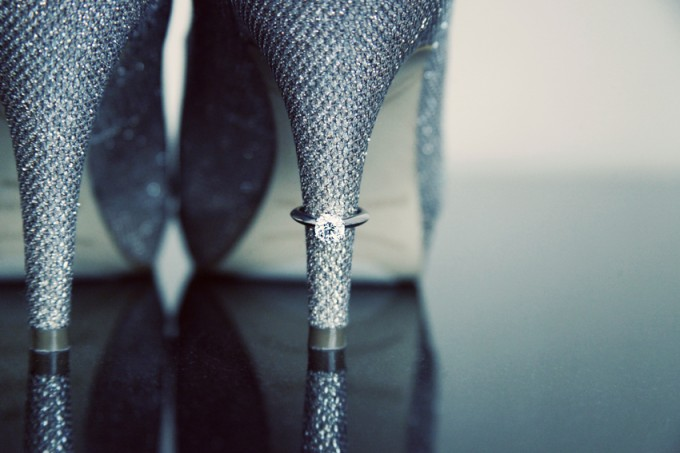 7. Rookery Wedding. Kevin Le Photography. Sweetchic Events. Ring on Heel of Shoe.
