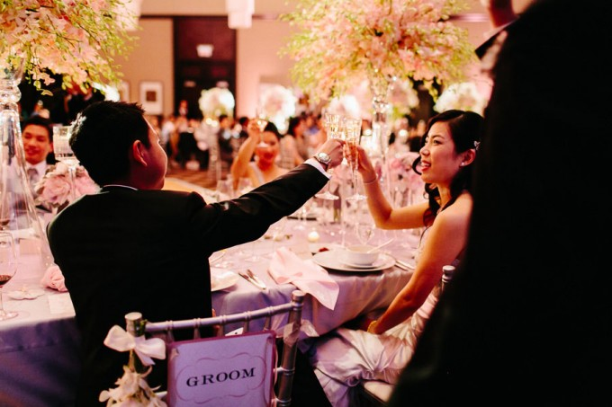81. Trump Tower Wedding. Pen Carlson Photography. Sweetchic Events. Bride and Groom Toasting.