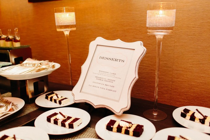 98. Trump Tower Wedding. Pen Carlson Photography. Sweetchic Events. Grey and Blush Pink Dessert TAble.