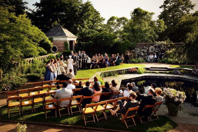 8. Chicago Botanic Garden Wedding. Life on Prints. Sweetchic Events. Ceremony in the English Garden.