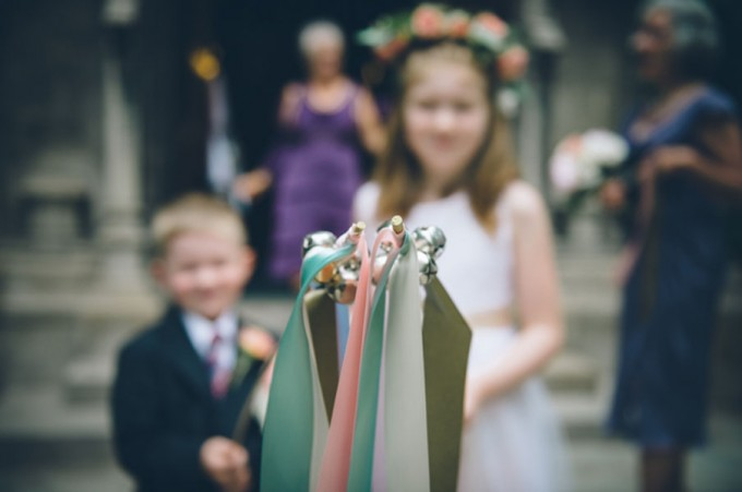 Ida Noyes Theater Wedding. Rose Tinted Lens Photography. Sweetchic Events. Ribbon Wands.