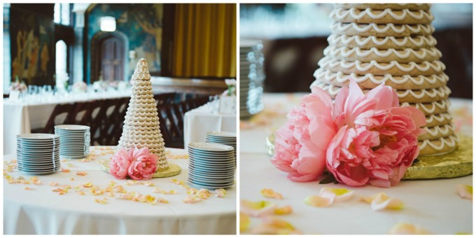 Ida Noyes Theater Wedding. Rose Tinted Lens Photography. Sweetchic Events. Traditional Swedish Wedding Cake. Swedish Bakery.