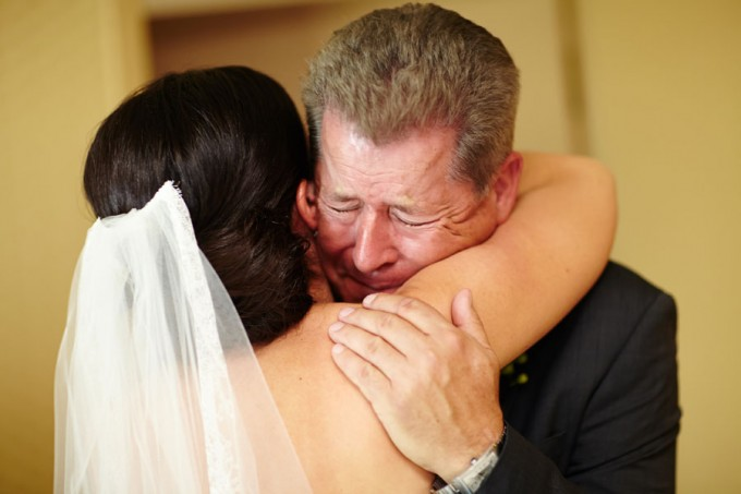 11. River East Art Center Wedding. Dennis Lee Photography. Sweetchic Events. First Look with Father of the Bride.