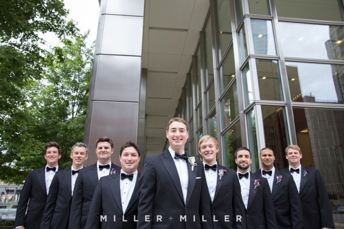 14. Germania Place Wedding. Miller & Miller Photography. Sweetchic Events. Groomsmen near Kinzie Street Bridge