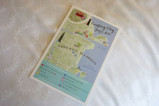 14. River East Art Center Wedding. Dennis Lee Photography. Sweetchic Events. Personalized Wedding Day Map.