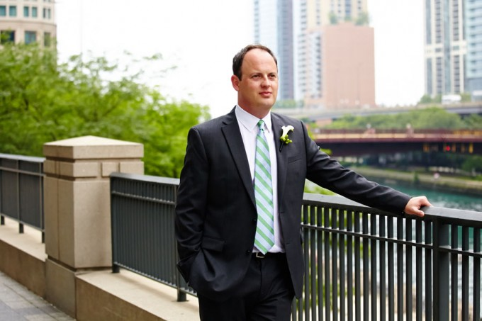 16. River East Art Center Wedding. Dennis Lee Photography. Sweetchic Events. Groom waiting for First Look