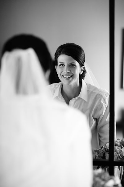 2. River East Art Center Wedding. Dennis Lee Photography. Sweetchic Events. Bride Looking in Mirror.