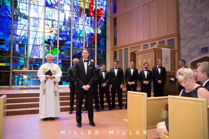 21. Germania Place Wedding. Miller & Miller Photography. Sweetchic Events. Alice Millar Chapel.  Groom Waiting.