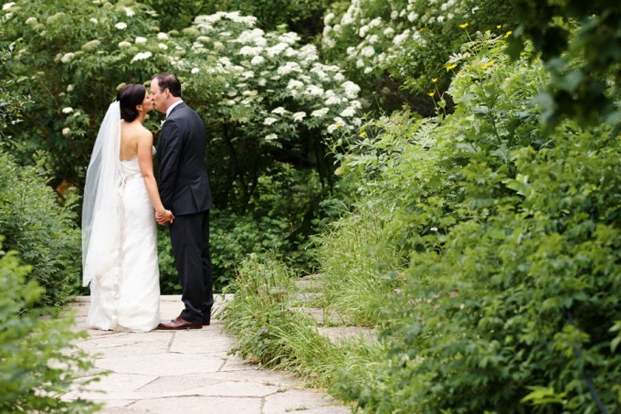 23. River East Art Center Wedding. Dennis Lee Photography. Sweetchic Events. Bride and Groom. Alfred Caldwell Lily Pond.